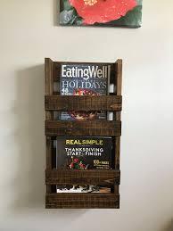 rustic magazine rack with 2 shelves magazine wood wood wall m38 rack