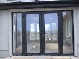 black exterior french doors