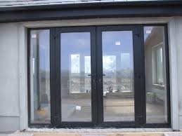 black exterior french doors