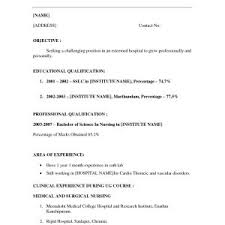 Sample Resume When You Have No Job Experience Valid Example Resumes