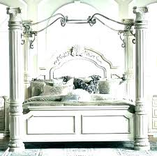 Wood Canopy Bed White Frame Queen Beds Black King Frames – hirebros.co