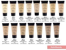 Nyx Foundation Color Chart
