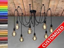 Light Bulb Socket Chandelier Spider Chandelier 3 15 Pendant Light Industrial Lighting