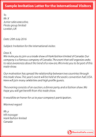 Auction Invitations Sample Invitation Letter For The International Visitors