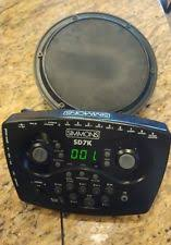 simmons drum machine. simmons sd7k electronic drums module brain and drum pad tested machine