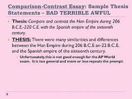 example comparison contrast essay thesis statement big questions  personal essay thesis statement examples narration example essay squirtle things happen after a resume college slideplayer