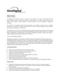 Staff Accountant Resume Cover Letter New Sample Cover Letter