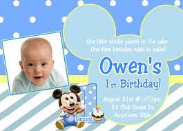 baby mickey mouse invitations birthday baby mickey mouse 1st birthday invitations dolanpedia