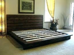 king size pallet bed king platform bed frame elevated platform bed with storage drawers