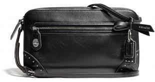 Lyst - Coach Poppy Flight Bag in Studded Leather in Black