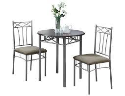 silver metal bistro dining set