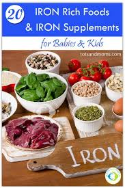 20 Iron Rich Foods And Iron Supplements For Babies Kids