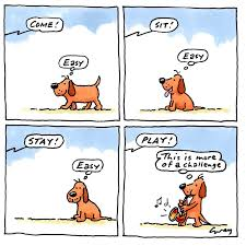 cartoon ilration of dialogues with dog by gray jolliffe