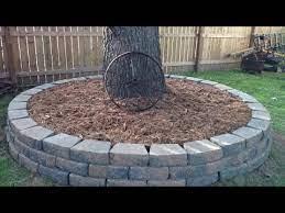 diy yard decor stone border for