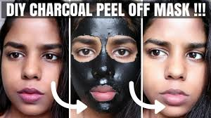 diy charcoal l off face mask how to get rid of blackheads