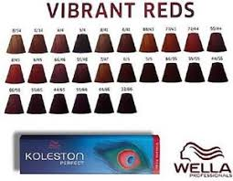 Wella Koleston Red Color Chart Wella Reds Color Chart Sbiroregon Org