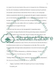 rules of statutory interpretation essay example topics and well  rules of statutory interpretation essay example