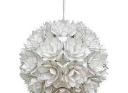 large capiz shell pendant light lotus ball 1960s for
