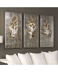 uttermost champagne leaves framed wall art 3 piece set multicolor on 3 piece framed wall art for sale with deals on uttermost champagne leaves framed wall art 3 piece set