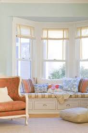 Engaging Pastel Blue Wall Paint Color For Living Room Idea With Pleasant  Bench Plus Cushion Also