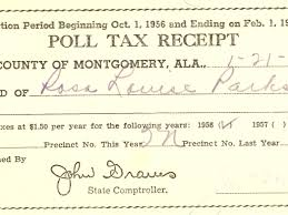 after years in lockdown rosa parks papers head to library of  rosa parks poll tax receipt from 1957 even after achieving the right to vote many hurdles like the poll tax were imposed to prevent african americans