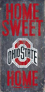 amazon com ohio state buckeyes wood sign home sweet home 6x12