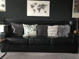 black leather sofa bi auckland