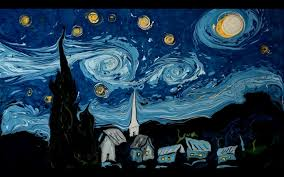 artist gorgeously recreates van gogh s starry night and self portrait by swirling paint in water