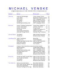 Theatrical Resume Format Resume Format Download Pdf