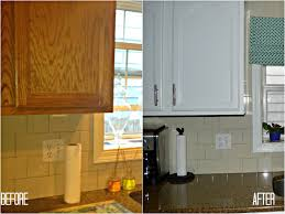Paint Oak Kitchen Cabinets Refinishing Oak Kitchen Cabinets Before And After House Decor