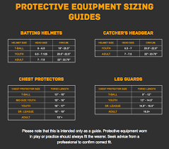 Chest Protector Size Chart Kudosports Discounted Team Sporting Goods Online Sport