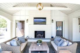 vaulted ceiling fireplace white brick outdoor fireplace with flat panel niche cathedral ceiling fireplace ideas