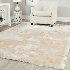 snowy white polar bear rectangular white sheepskin faux fur rug 3 intended for faux sheepskin area