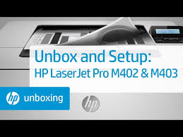 The hp laserjet pro m402dne belongs to the hp laserjet pro m400 collection that consists of three various other models. Unboxing And Setting Up Hp Laserjet Pro M402 And M403 Printers Hp Youtube