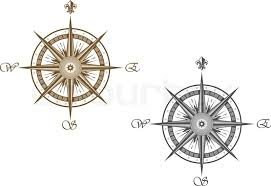 compass design medieval compass isolated on white stock vector colourbox