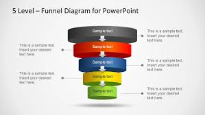 Powerpoint Funnel Chart Template 5 Level Funnel Diagram Template For Powerpoint