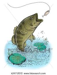largemouth bass jumping. Perfect Largemouth Clip Art  Largemouth Bass Jumping Out Of Water Fotosearch Search  Clipart Illustration In Jumping S