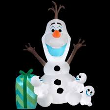 disney 49 21 in d x 40 95 in w x 72 05 in h inflatable olaf