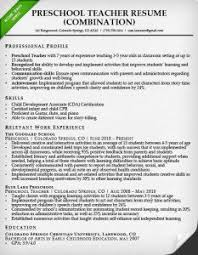 preschool resume samples combination resume samples writing guide rg