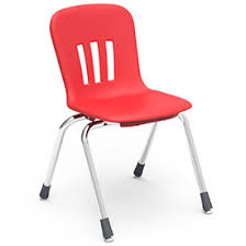 red school chair.  Red Virco N916 The Metaphor Stacking Chair 16 With Red School