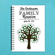family reunion keepsakes booklet templates personalized gifts