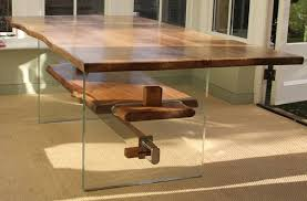 contemporary oak dining tables uk. modern rustic, glass and oak dining table - everyone is amazed by the natural character simple yet stunning form. stand back admire. contemporary tables uk