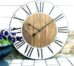 distressed wood wall clock oversized farmhouse large decor co standard numeral wooden white distres