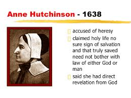 religion in the colonies apush anne hutchinson