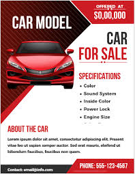 Car For Sale Flyer Templates For Ms Word Word Excel