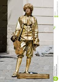 enternment for the tourist in lviv living statue the man in the image of the ian on april 29 2016 in lviv ukraine
