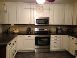 off white kitchen cabinets with black countertops. Enlarge Gray And White Kitchen Off Cabinets With Black Countertops T
