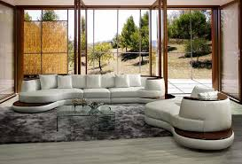 rodus 105 rounded corner leather sofa w wooden trim