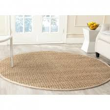 round jute rug lovely hand loomed braided cotton multi colour