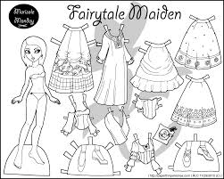 Small Picture Four Princess Coloring Pages to Print Dress Dolls White paper